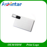 Disco de destello de aluminio delgado del USB de la tarjeta del palillo de la memoria del mecanismo impulsor
