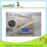 Haiwenの真新しい定規はオフィス24cmの三角形の定規2PC PVCパッキングをセットする