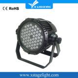 54PCS RGBW DMX는 동위 LED 옥외 빛을 방수 처리한다