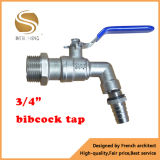 Bibcock do Faucet de bronze com punho do ferro