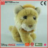 ASTM realistisches weiches Plüsch-Spielzeug-sitzende Löwe-Löwin