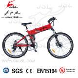"""Hiden電池(JSL035B-1)が付いている電気自転車を折る赤26 """"山"""