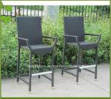 Tabela e cadeira de vime da barra do Rattan do pátio da mobília por atacado do jardim