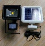 Солнечн-Приведенный в действие прожектор Движени-Активированный УДАРОМ напольный обеспеченностью СИД 3W