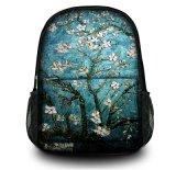 カスタム学校、走行するハイキングのための方法によってキャンバスの学生かばん袋のDaypackの印刷されるバックパック