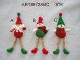 """5.5 """" H Santa et bonhomme de neige - ornements de décoration de Noël, 3 Asst"""
