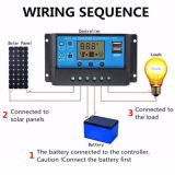 12V 24V 10Aの二重USBの軽い時間制御Cm20k-10Aを用いる太陽系のための太陽料金のコントローラ