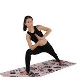 Stuoia ecologica di yoga della pelle scamosciata dell'albero della stuoia di gomma naturale antiscorrimento di yoga