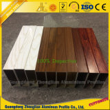 Tubo cuadrado de aluminio del grano de madera para la decoración de los muebles