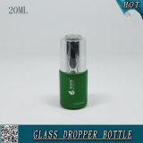 frasco de petróleo essencial líquido cosmético do alumínio do frasco do conta-gotas do soro da essência 20ml