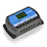 contrôleur solaire de l'affichage à cristaux liquides USB-5V/3A de 10A 12V/24V pour la batterie Rtd-10A de panneau solaire