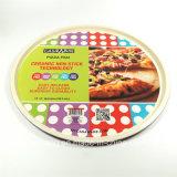 Panela de cozimento de pizza vermelha grande Panela de aço inoxidável de aço carbono