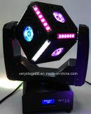 Nieuwste 4in1 LEIDENE 6X12W RGBW Voetbal die HoofdLicht bewegen