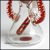 Nuevo vidrio que fuma 9.25 pulgadas de tubo de agua colorido con tres orificios Perc en la talla común de 18.8m m