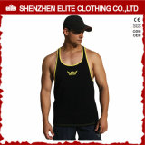 Vente en gros blanc Bodybuilding de singulet de lisse de Mens de gymnastique (ELTMBJ-312)