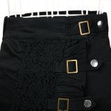 Gotischer Steampunk Zigeuner-Kleidungs-Schwarz-Spitze-Fußleisten-Großverkauf-Hersteller