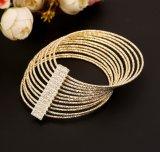 12 Dama a più strati di Pulsera PARA del diamante di Woith dei monili di modo del braccialetto del collegare del ferro di strato