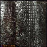 Кожа PU зерна ящерицы крокодила синтетическая для сумок Hx-B1722