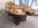Естественный общий корень высекая журнальный стол корабля Wenge Gendiaochazhou деревянный