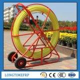 Conduit traditionnel Rodder de remboursement in fine de fibre de verre d'usine de la Chine