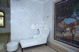Плитка мозаики белого квадрата пресноводной перлы мати раковины чисто