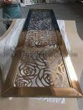 مطعم إستعمال تصميم حديث صنع وفقا لطلب الزّبون زخرفة [ستينلسّ ستيل] فن شاشة حاجز