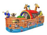 Parco di divertimenti gonfiabile del Bouncer del partito degli animali combinato per i capretti