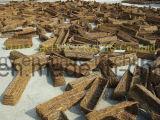 خشبيّة [فلوور غردن] إناء لأنّ زخرفة خارجيّة