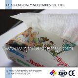 Салфетки младенца хлопка, 100% безопасное и санитарное для чувствительной кожи, отсутствие химиката, отсутствие спирта