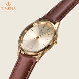 Reloj de Mens del cuarzo de la correa de cuero del reloj de la marca de fábrica de Timesea 72601
