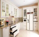 Gabinete de cozinha de madeira do revestimento moderno do PVC