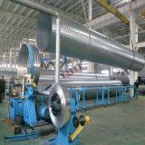 Câmara de ar espiral que dá forma à máquina para o duto de ar de HAVC que faz a produção