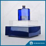 Tribune van de Vertoning van de Fles van de LEIDENE Wijn van de Verlichting de Blauwe Acryl (hj-DWL05)
