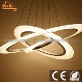 El redondo al por mayor suena el LED de acrílico que cuelga la luz pendiente para el hogar