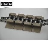 Edelstahl-Unterseite und flache oberste haltbare Förderanlagen-Plastikkette