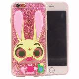 Caixa transparente do telefone móvel do coelho macio da colagem TPU Judy para Huawei P9 Lite/nota 7 de Samsung com fêmea (XSDD-064)