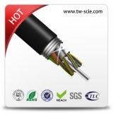 36/48/60/288 cable óptico al aire libre GYTA de fibra del tubo flojo de aluminio de la armadura de la red de la base