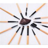Venda quente Escova da composição 24PCS cosmética com punho de madeira