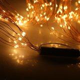 240 DEL chauffent l'usager argenté flexible étoilé de Noël de fil de quirlande électrique de chaîne de caractères multi blanche de branchement