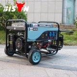 バイソン(中国)の冷却される電気開始の単一フェーズの銅線ガソリン5kVA発電機13HPガソリン発電機の空気