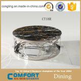 Het moderne Aangemaakte Zwarte Ontwerp van de Koffietafel van het Glas met de Voeten van het Roestvrij staal