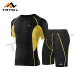 Camicia di riciclaggio di forma fisica di usura di sport di compressione delle parti superiori e dei pantaloni di estate per gli uomini