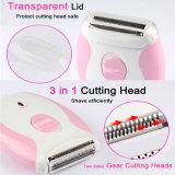 Recargable impermeabilizar de la máquina de afeitar eléctrica de las mujeres de señora Shaver Epilator Shaving Knife