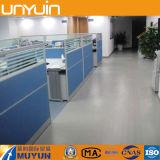 La oficina usada, tablón del PVC, azulejo del vinilo, PVC Piedra-Mira el suelo