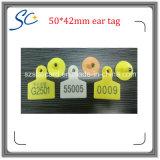 Étiquette d'oreille de lapin de mouton de 50 * 42mm avec numéro d'impression