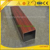 Hölzernes Korn-quadratisches Aluminiumgefäß für Möbel-Dekoration
