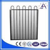 Fabricante de aluminio negro modificado para requisitos particulares de la cerca