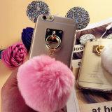 Geval van de Toebehoren van de Telefoon van de Oren TPU van Mickey van de diamant het Mobiele voor iPhone 7