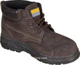 Chaussures de sûreté grises de cuir de suède de couleur avec Oxford Outsole