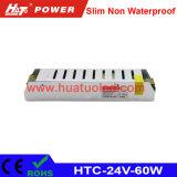 24V-60W alimentazione elettrica non impermeabile sottile di tensione costante LED